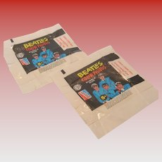 Two Vintage Beatles Color Series Gum Wrappers