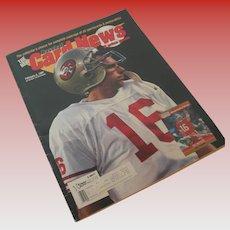 Joe Montana Cover Issue of Baseball Card News Feb 4, 1991