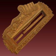 Vintage Balfour Brass Name Tag Pin