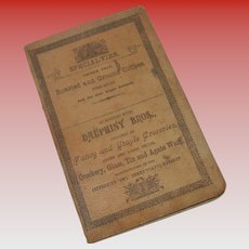 Antique Dauphiny Bro. Account Notebook