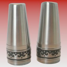 Vintage International Stainless Steel Salt & Pepper Shaker Set