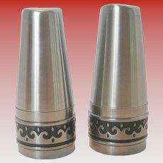Vintage International Stainless Steel Salt & Pepper Shaker Set