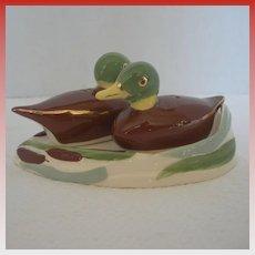 Vintage Ducks on Pond Salt and Pepper Shakers