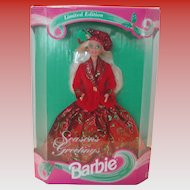 Vintage 1994 Season's Greetings Barbie NIB