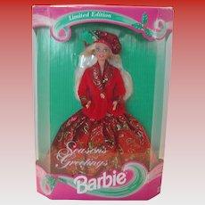 Vintage 1994 Season's Greetings Barbie NIB