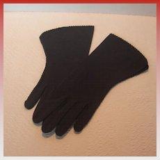 Vintage Crescendoe Black Gloves
