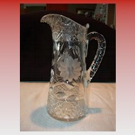 Czechoslovakian Cut Glass Pitcher