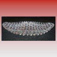 Cut Glass Oval Bowl...Brilliant Pattern