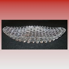 Cut Glass Oval Bowl...Brilliant Pattern