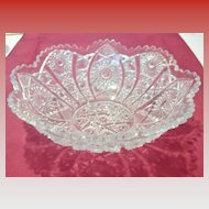 Vintage Pressed Glass Serving Bowl