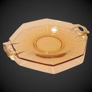 Depression Era Double Handled Glass Dish