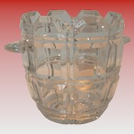 Cut Lead Crystal Vintage Ice Bucket