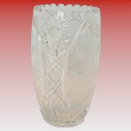 Vintage Cut Crystal 8 inch Vase