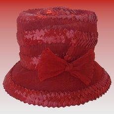 Vintage Roth Margit & Helen Clarke Red Straw Hat