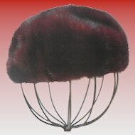 Vintage YUDOFSKY Mink Pillbox Hat