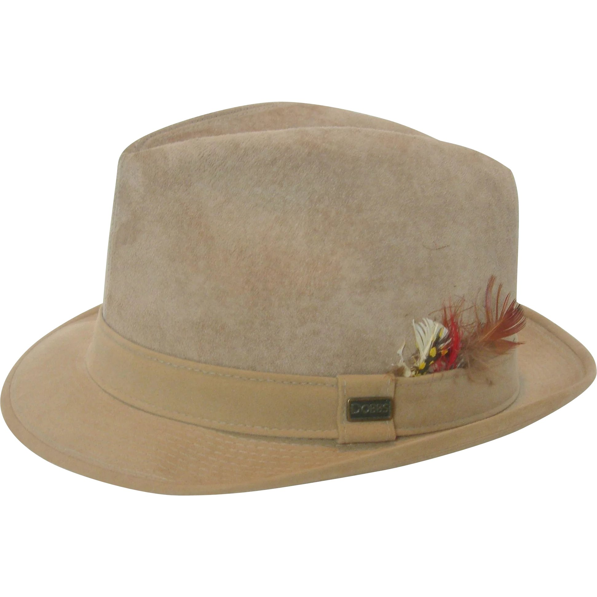 a527467befcd4 Fur Fedora From Yvonne s Fedora Men S Vintage Dobbs Fifth Avenue  Vintage  Dobbs Fifth Avenue Suede Short-Brimmed
