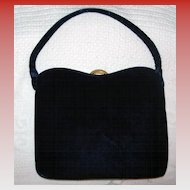 Vintage Garay Navy Evening Handbag