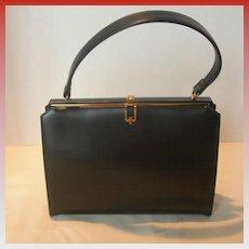 Vintage Black Lederer Handbag in Excellent Condition