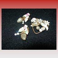 Vintage Austrian Brooch & Earring Set