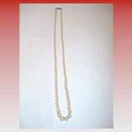 Vintage Single Strand Imitation Pearls
