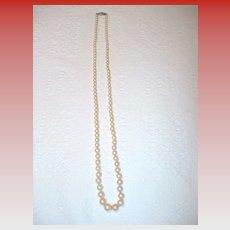 Vintage Single Strand Imitation Pearls