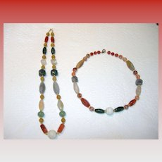 Two Necklaces re-strung from vintage stones