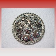 Large Handmade Sterling Silver Brooch