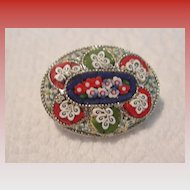 1960's Micro Mosaic Brooch