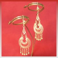 Filagree Chandelier Earrings from our Belly Dancer's Collection