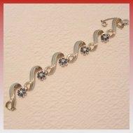 Vintage JOMAZ Gold-Tone & Rhinestone Bracelet