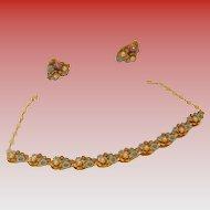 Vintage ART Demi-Parure Necklace & Earrings