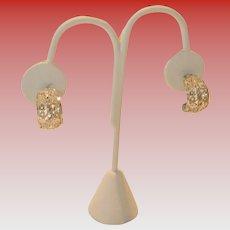 Vintage .925 Silver Filagree Pierced Earrings by I. Michelson