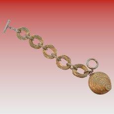 Nettie Rosenstein Signed Stacked Coin Bracelet