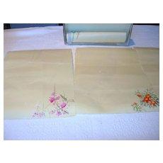 Handmade, Handpainted Vintage Stationary Set