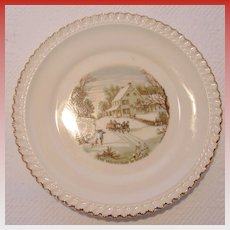 A Pair of Harker Ware Dessert Plates