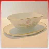 """Rosenthal """"Bettina"""" Gravy Boat With Attached Dish"""