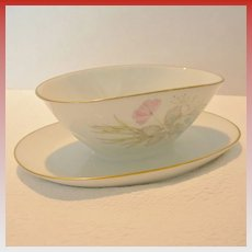 "Rosenthal ""Bettina"" Gravy Boat With Attached Dish"