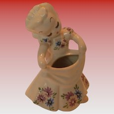 Vintage De Lee Of Hollywood Pottery Girl Vase