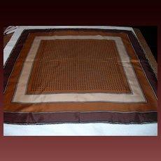 Vintage Silk Scarf in Autumn Tones