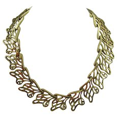 Monet at their Finest Necklace leaf pattern ( Final Mark Down)