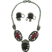 Selro Nubian Princess Necklace and earrings