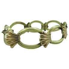 Krementz gold plated bracelet with shell design
