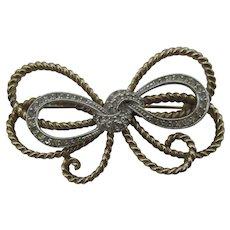 Pennino bow brooch sparkling Rhinestones