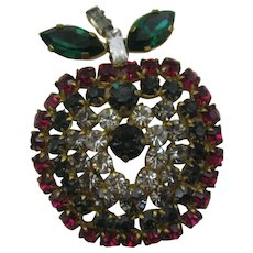 Made in Austria Large colorful Apple pin