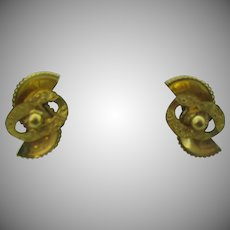 Fun and funky HOBE clip on earrings