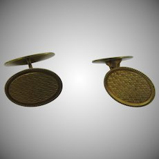 14K Gold gate front cuff links