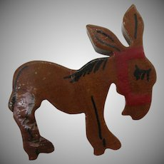 10 Dollar Tuesday Special, 1940's wooden donkey pin