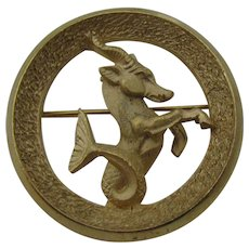 Trifari Capricorn pin