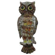 1930's-40's Enameled Owl Fur clip