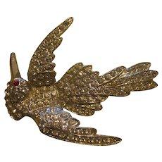 Beautiful Pot metal bird in flight brooch